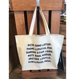 TSF Design Tote - 'Keys, Hand Lotion…..' Canvas Bag