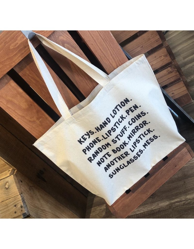 Tote - 'Keys, Hand Lotion…..' Canvas Bag