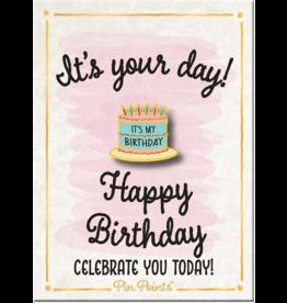 My Word Signs Pin Point-Happy Birthday - BIRTHDAY CAKE