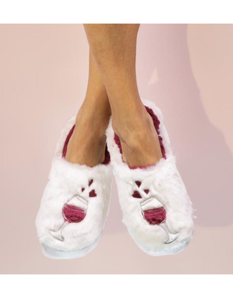 Faceplant Classic Slippers-Wine A Little