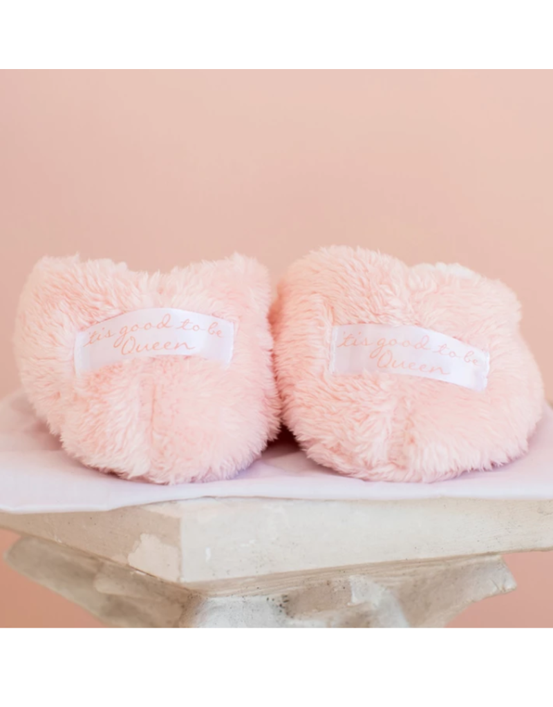 Faceplant Footsies Slippers-Tis Good To Be Queen