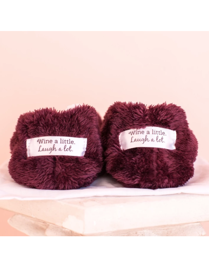 Faceplant Footsies Slippers-Wine Lover