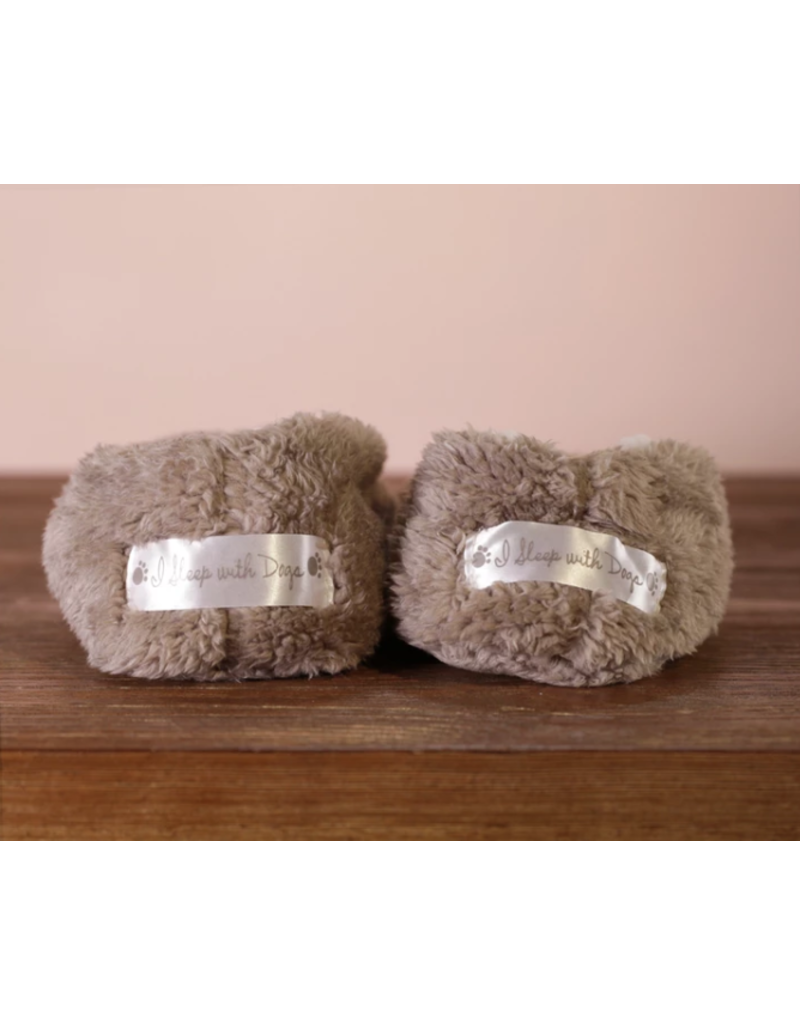 Faceplant Footsies Slippers-I Sleep With Dogs