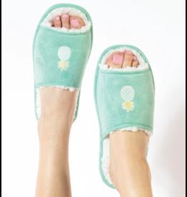 Faceplant Slide Slippers-Tropical Pineapple