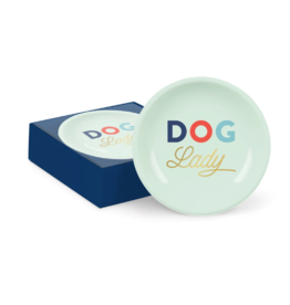 Petshop Plate-DOG LADY-Mini Round Ring Tray
