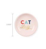 Petshop Plate-CAT LADY-Mini Round Ring Tray