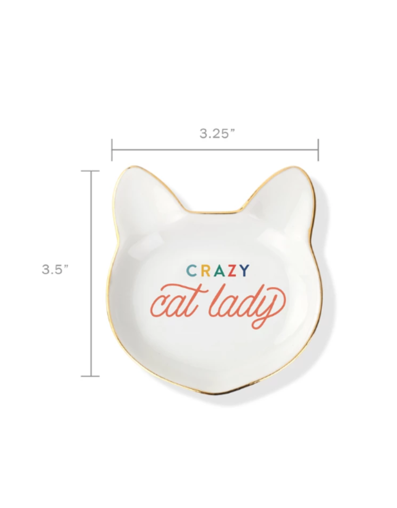 Petshop Plate-CRAZY CAT LADY-Cat Face Tray
