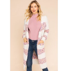 Gilli Clothing Kimono Cardigan-Cozy Knit, Block Stripes