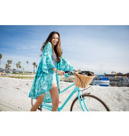 Lotus and Luna Kimono Cover Up-Catalina Teal ONE SIZE