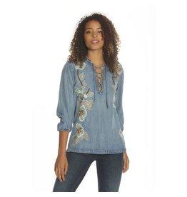 Driftwood Jeans Top-Emb Casey Shirt, Zen Garden