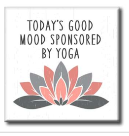 My Word Signs Yoga Chunkie Sign Small-Today's Good Mood