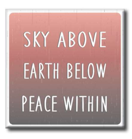 My Word Signs Yoga Chunkie Sign Small-Sky Above, Earth Below