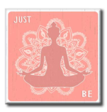 My Word Signs Yoga Chunkie Sign Small-Just Be Meditation