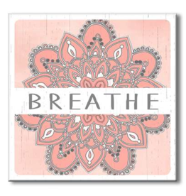 My Word Signs Yoga Chunkie Sign Large-Breathe Mandala