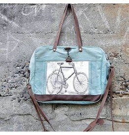 Chloe & Lex Messenger-Bicycle Skies Tote Bag