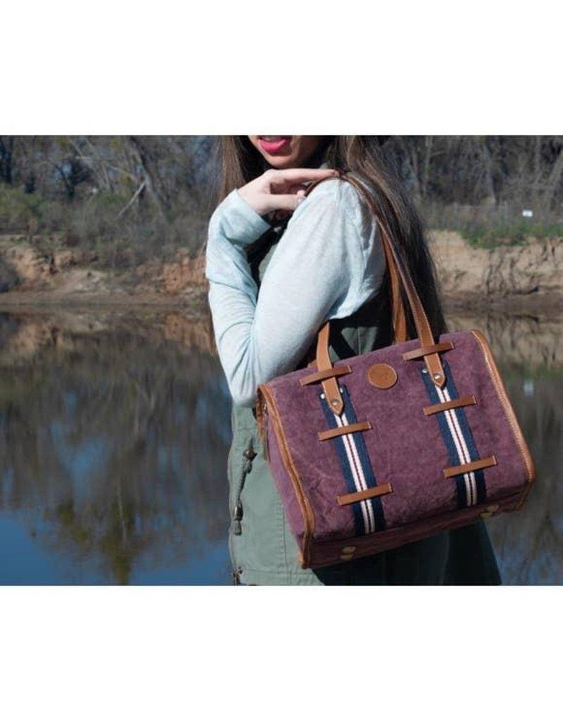 Le Papillon Handbag-Le Papillon Burgundy Vintage Metz Leather