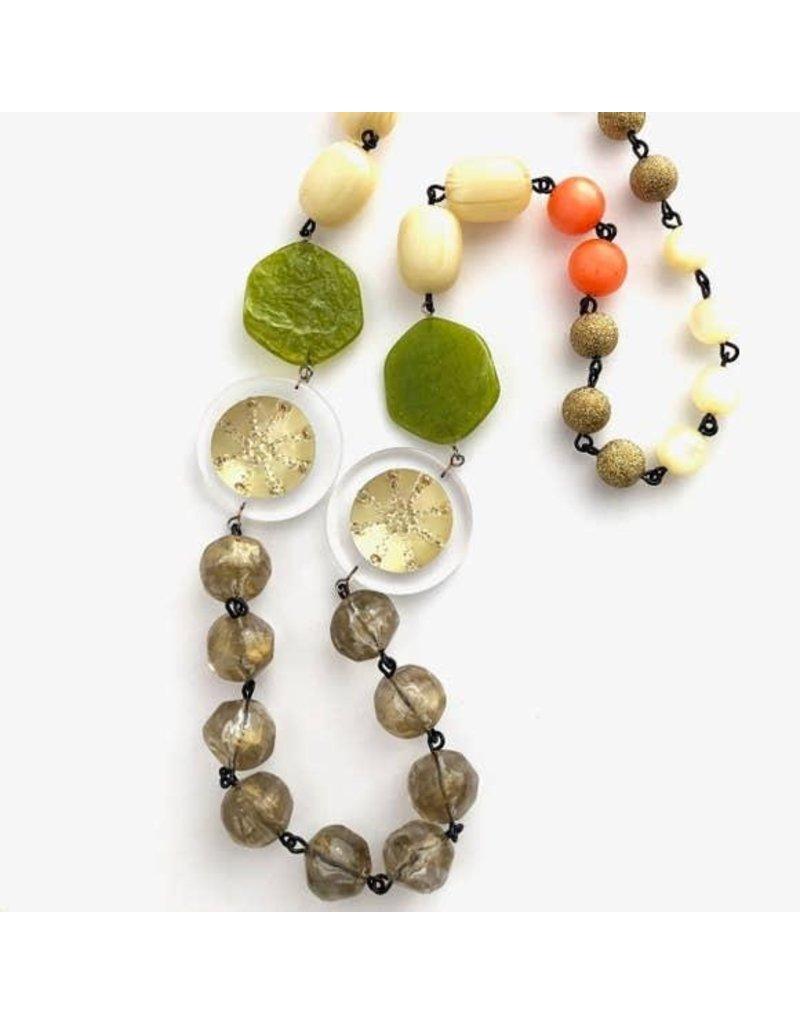 "Leetie Lovendale Necklace-Vintage Carmen Gold Sand Dollar 26"""