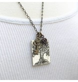 """Red Truck Designs Necklace-Tree of Life, Pine Cone, Silver 18"""""""