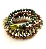 Leetie Lovendale Bracelet Stack-Butterscotch Golden Green (4)