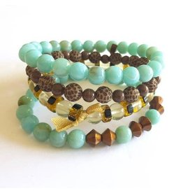 Leetie Lovendale Bracelet Stack-Turquoise & Copper (4)