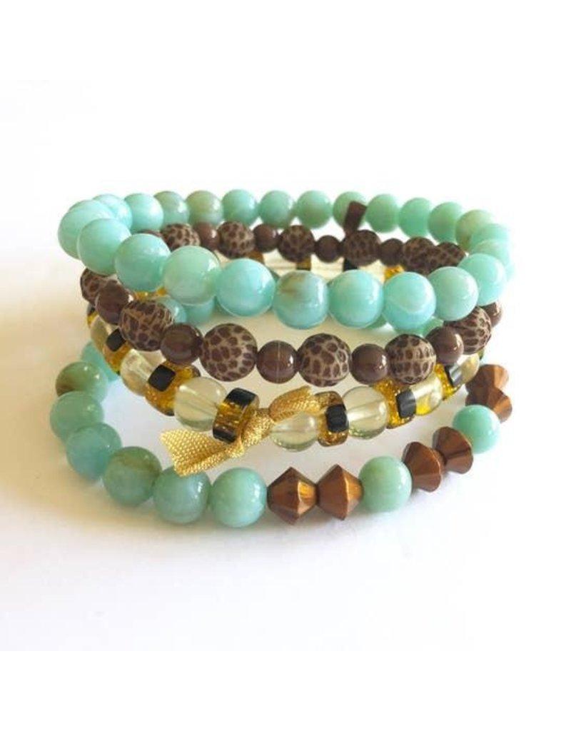 Leetie Lovendale Bracelet Stack-Turquoise & Copper (4)