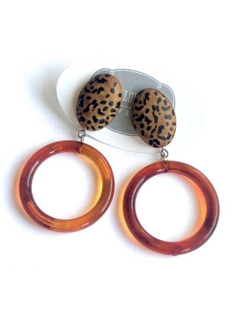 Leetie Lovendale Earrings-Leopard Print Donut Drop