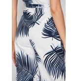 Jumpsuit-Tropical Leaves, Palazzo, Surplice Cami