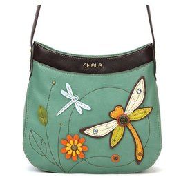 Chala Bags Crossbody-Crescent-Dragonfly (Teal)