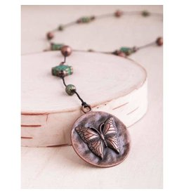 "Bali Queen Necklace-Copper Butterfly Alloy (40"")"