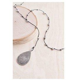 """Bali Queen Necklace-Solid Teardrop Alloy (40"""")"""