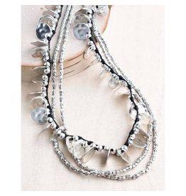 "Bali Queen Necklace-Silver Coin Alloy, Multi Strand (18"")"