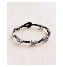 "Bali Queen Bracelet-Silver Lucky Elephant Alloy (7"")"