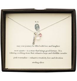 BU Jewelry BU-Inspirational Necklace-'May Your Journey be Filled with Love & Laughter'