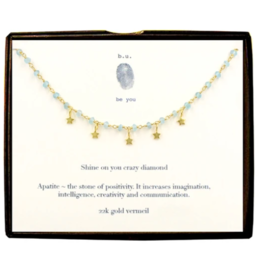 BU Jewelry Necklace-Shine On You Crazy Diamond GOLD