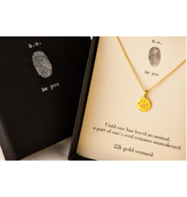 BU Jewelry Necklace-BU Paw Print Until One Has Loved GOLD