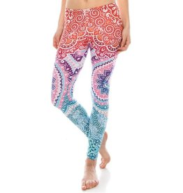 Leggings-Full Leg, Mandala Ombre, (One Size)
