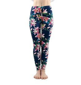 Leggings-Full Leg, Colorful Lily, (One Size)