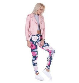Leggings-Full Leg, Wild Roses, (One Size)