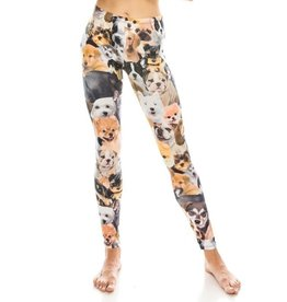 Leggings-Full Leg, Dogs, (Size L-2XL)