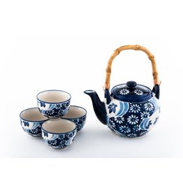 Tea Set-Porcelain 'Mira Flower Design' (6pc)