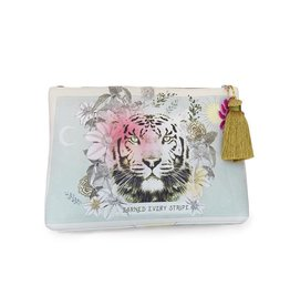 Papaya Art Pouch, Large Tassel - TIGER STRIPES