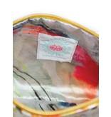 Papaya Art Pouch, Small Tassel -MOROCCAN PEACOCK
