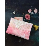 Papaya Art Pouch, Small Tassel -BLUSH WATERCOLOR