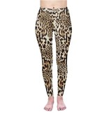 Leggings-Full Leg, Leopard, (One Size)