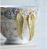 Red Truck Designs Earrings-Gold Angel Wings