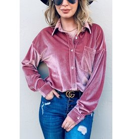 And The Why Shirt-Velvet Classic-Fit Button Down Shirt