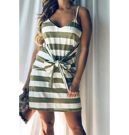 And The Why Dress-Casual knit, Wide Stripe & Bow