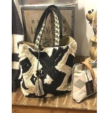 Chloe & Lex Tote-Soft Rag Rug, Chevron Tassel Bag