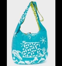 Art Studio Company Batik Cotton Sling Bag-Dolphin (Blue/Green)