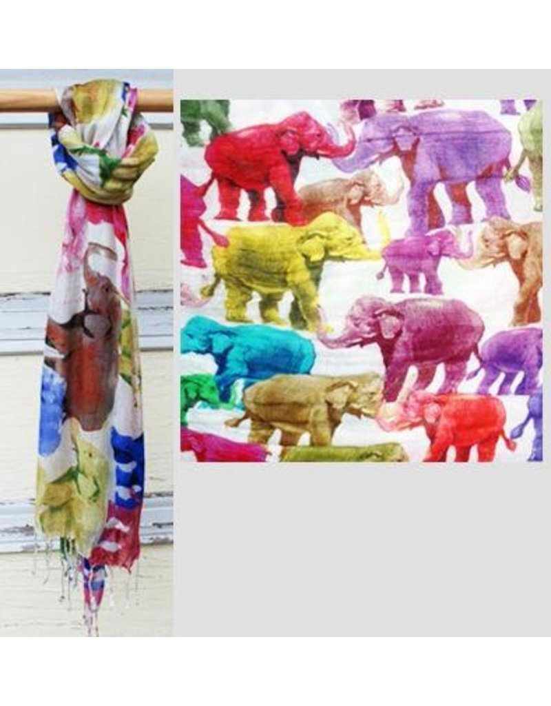 Art Studio Company Scarf Batik-Elephants (Colored)
